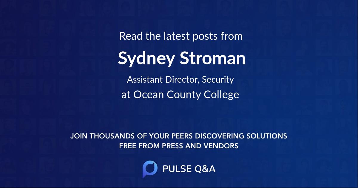 Sydney Stroman