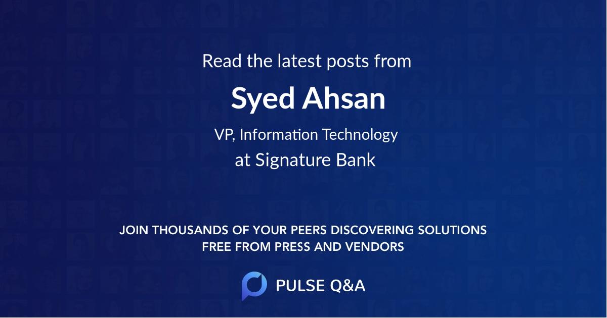 Syed Ahsan