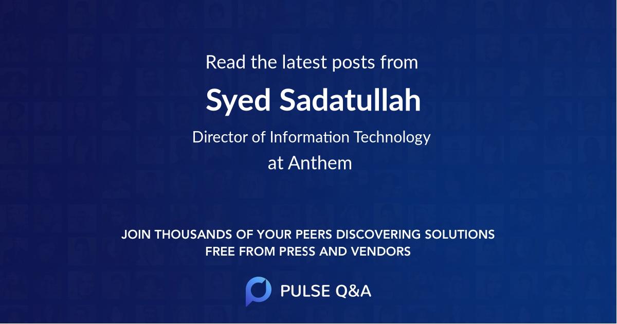 Syed Sadatullah