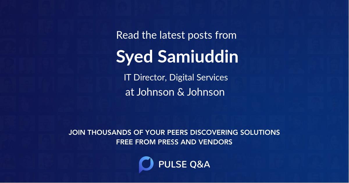 Syed Samiuddin