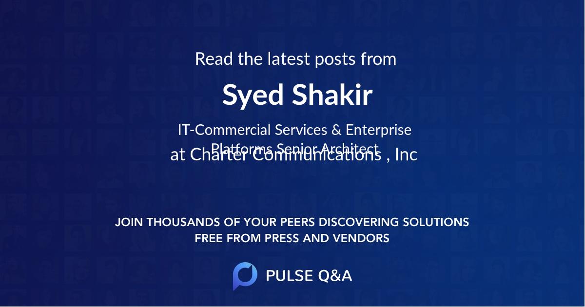 Syed Shakir