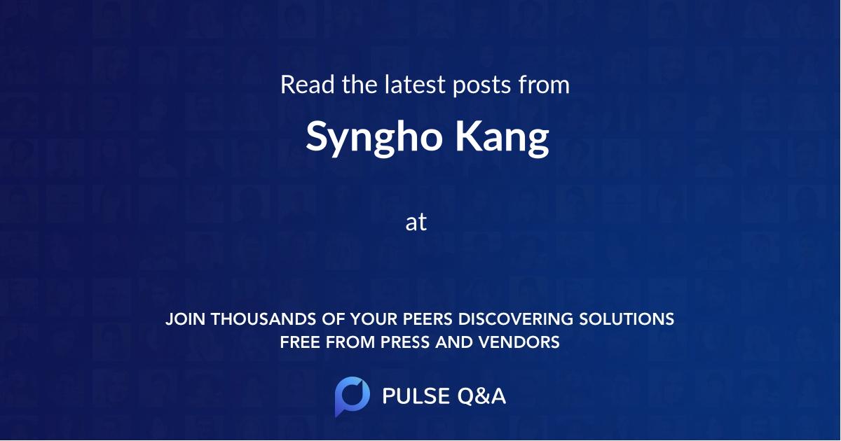 Syngho Kang