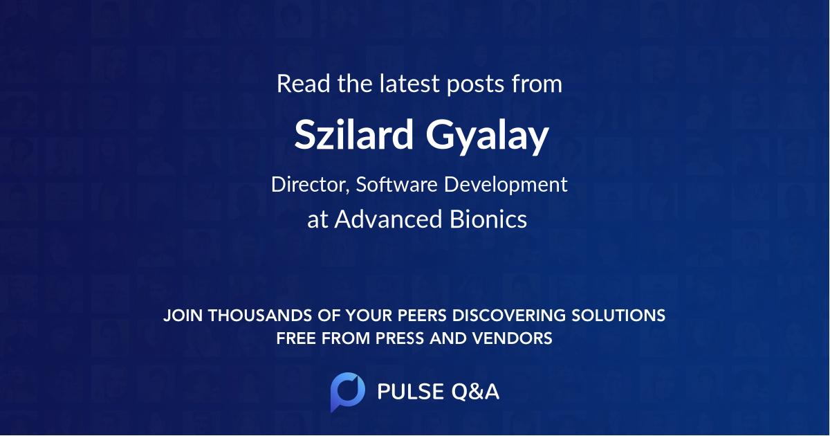 Szilard Gyalay