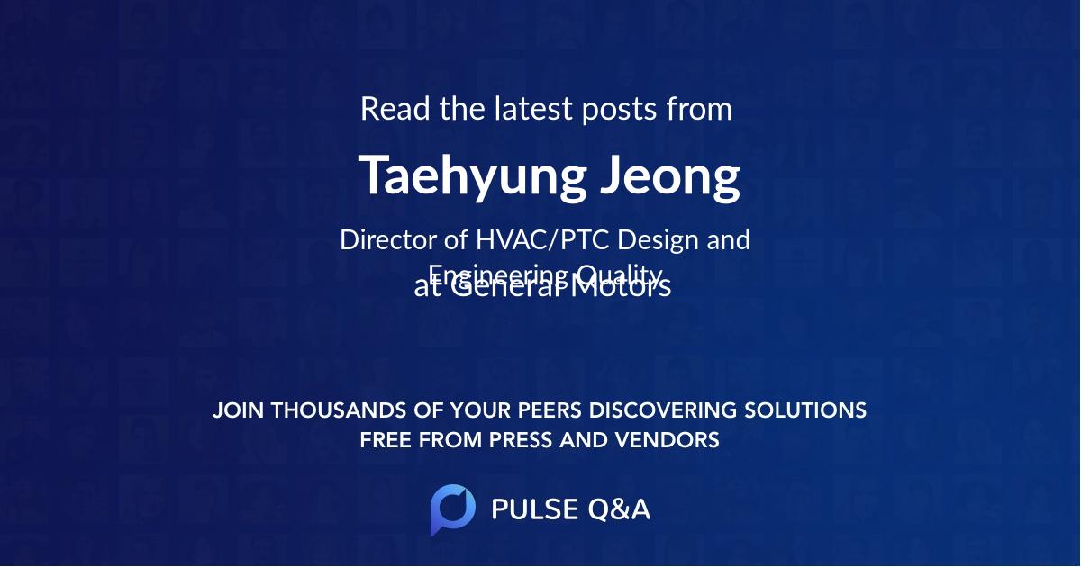 Taehyung Jeong