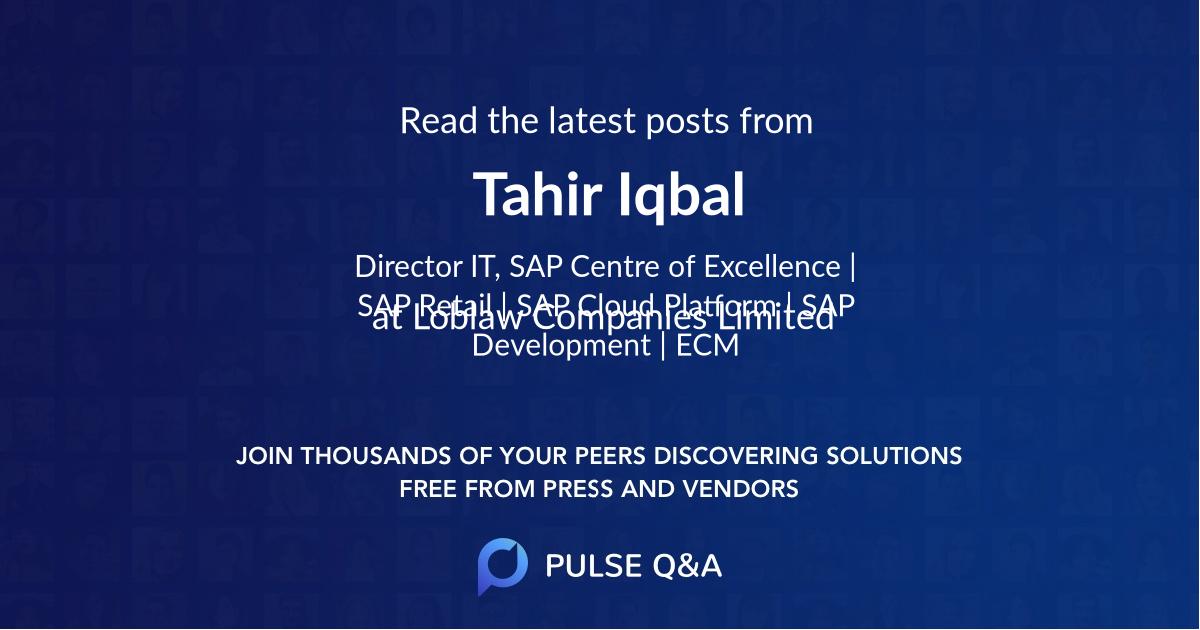 Tahir Iqbal