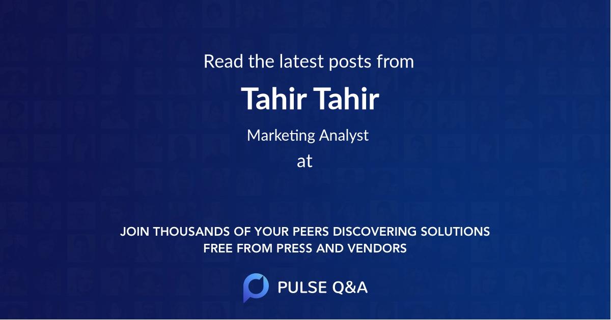 Tahir Tahir