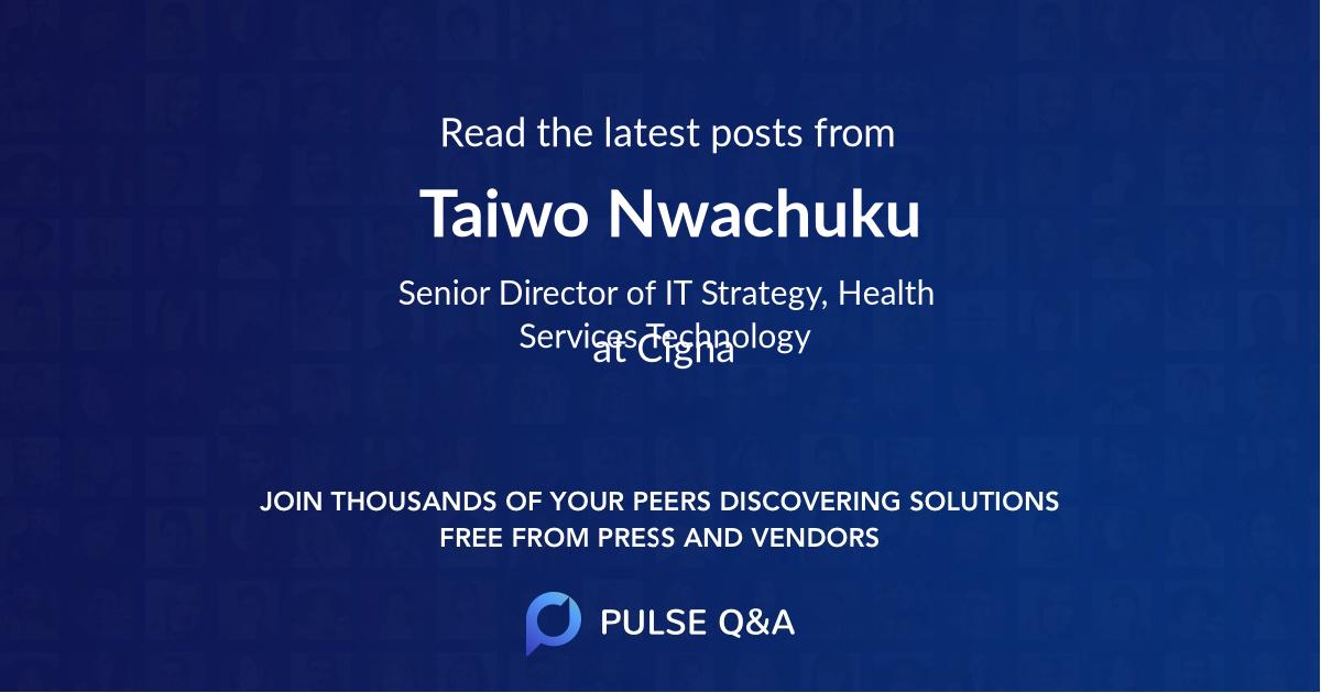 Taiwo Nwachuku