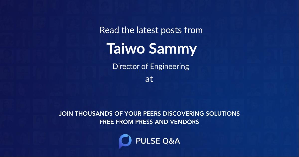 Taiwo Sammy