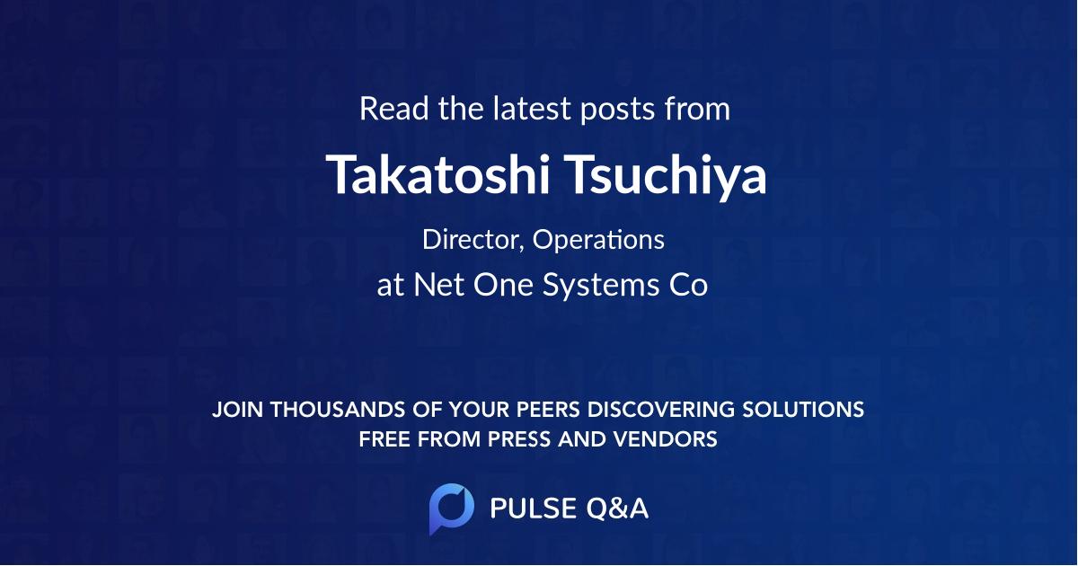 Takatoshi Tsuchiya