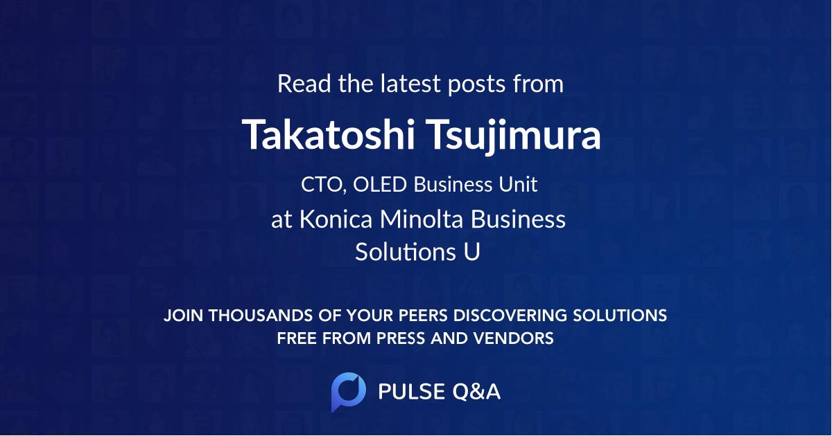 Takatoshi Tsujimura