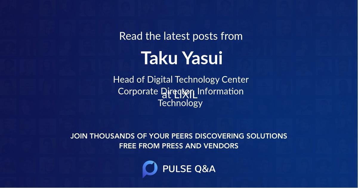 Taku Yasui