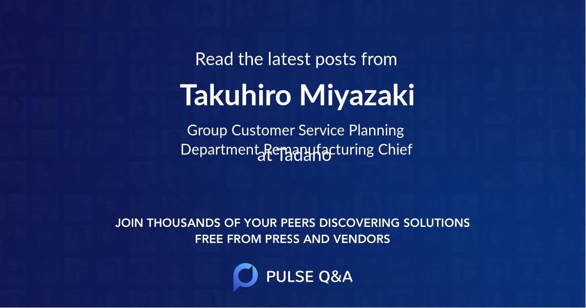 Takuhiro Miyazaki