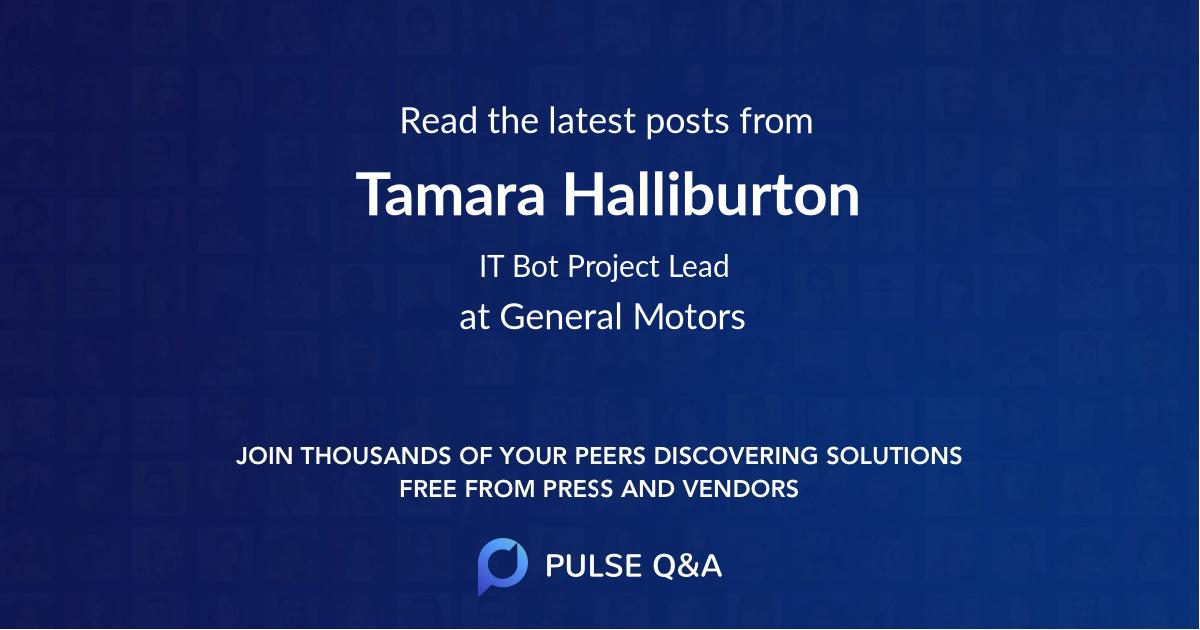 Tamara Halliburton
