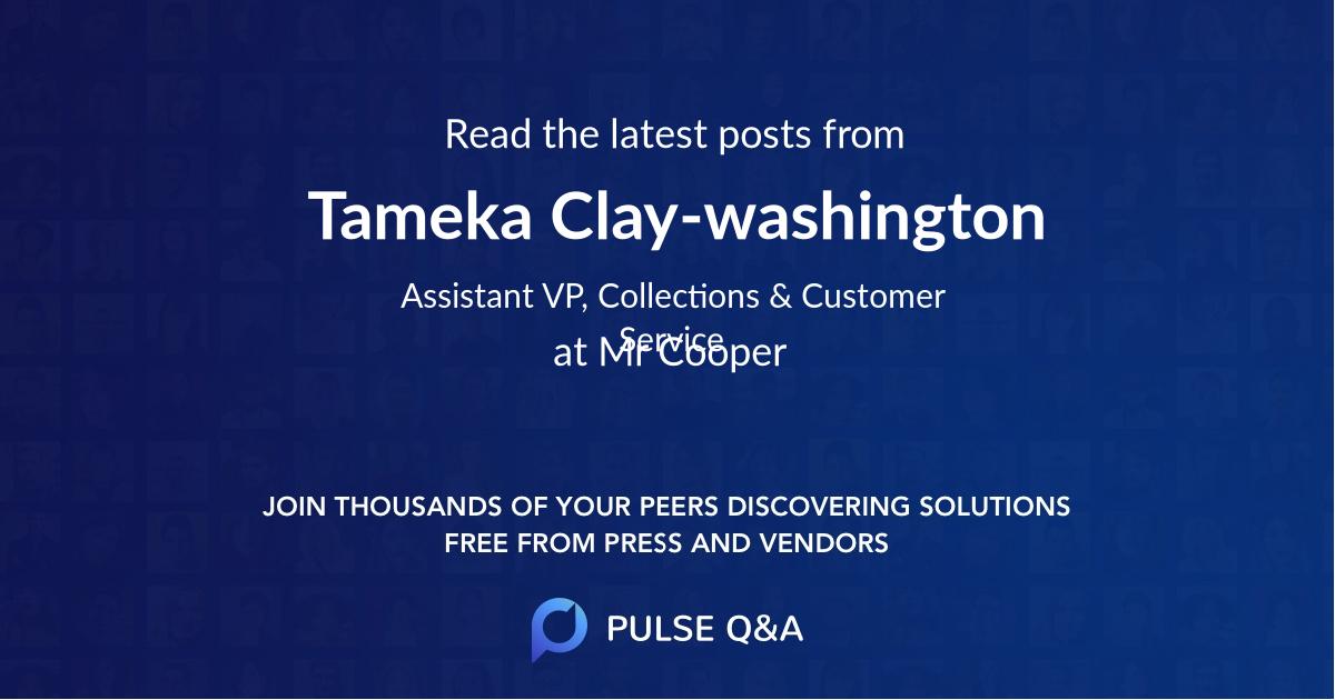 Tameka Clay-washington