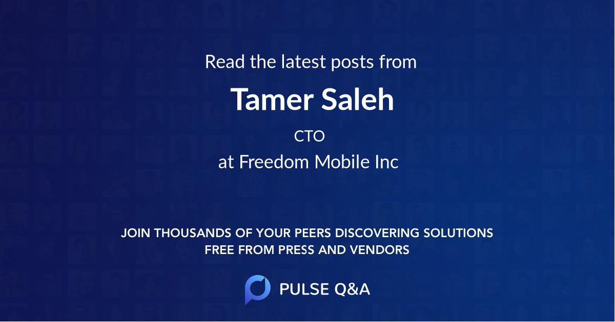 Tamer Saleh
