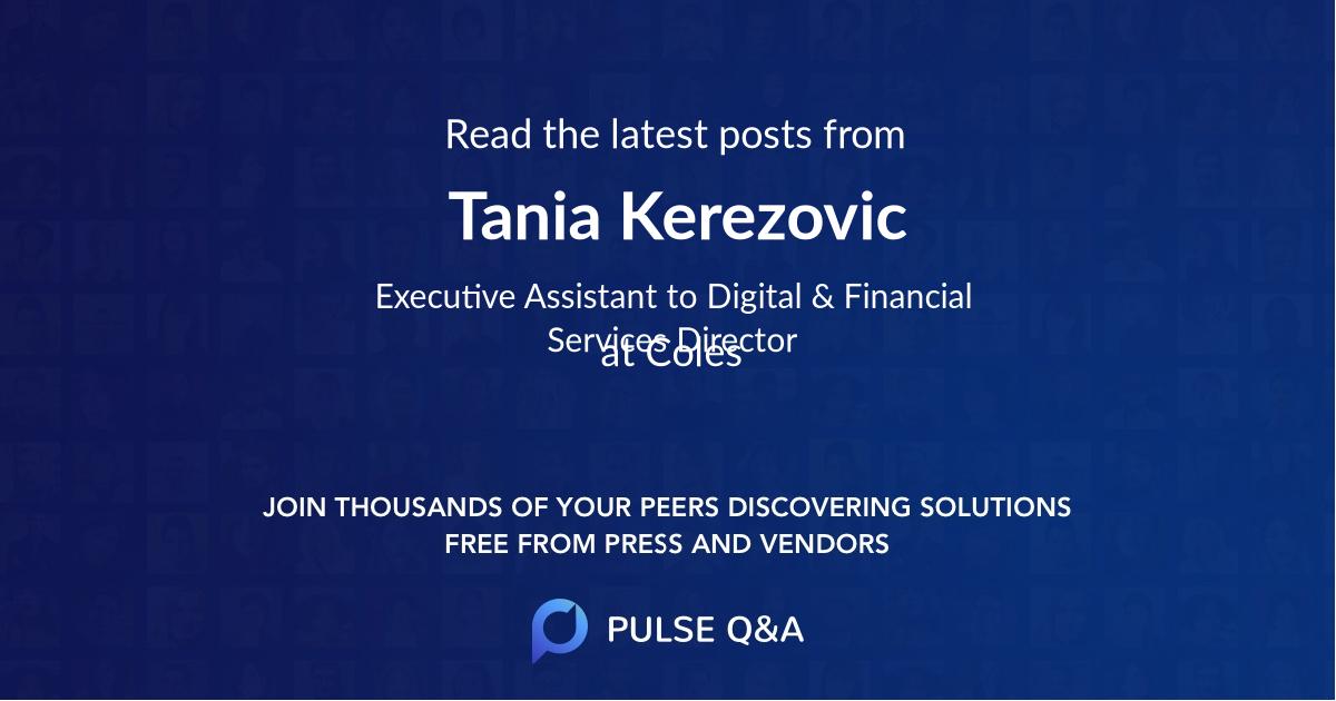 Tania Kerezovic