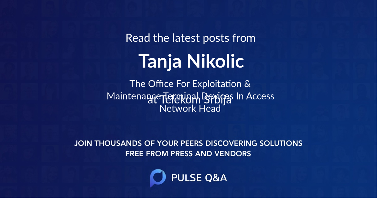 Tanja Nikolic
