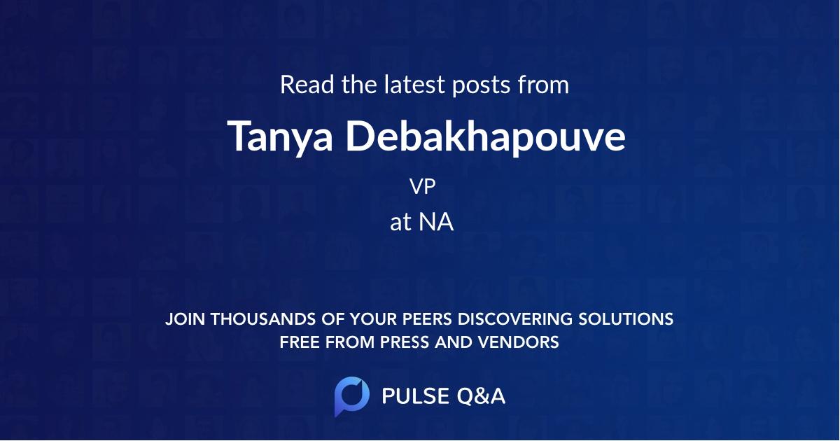 Tanya Debakhapouve
