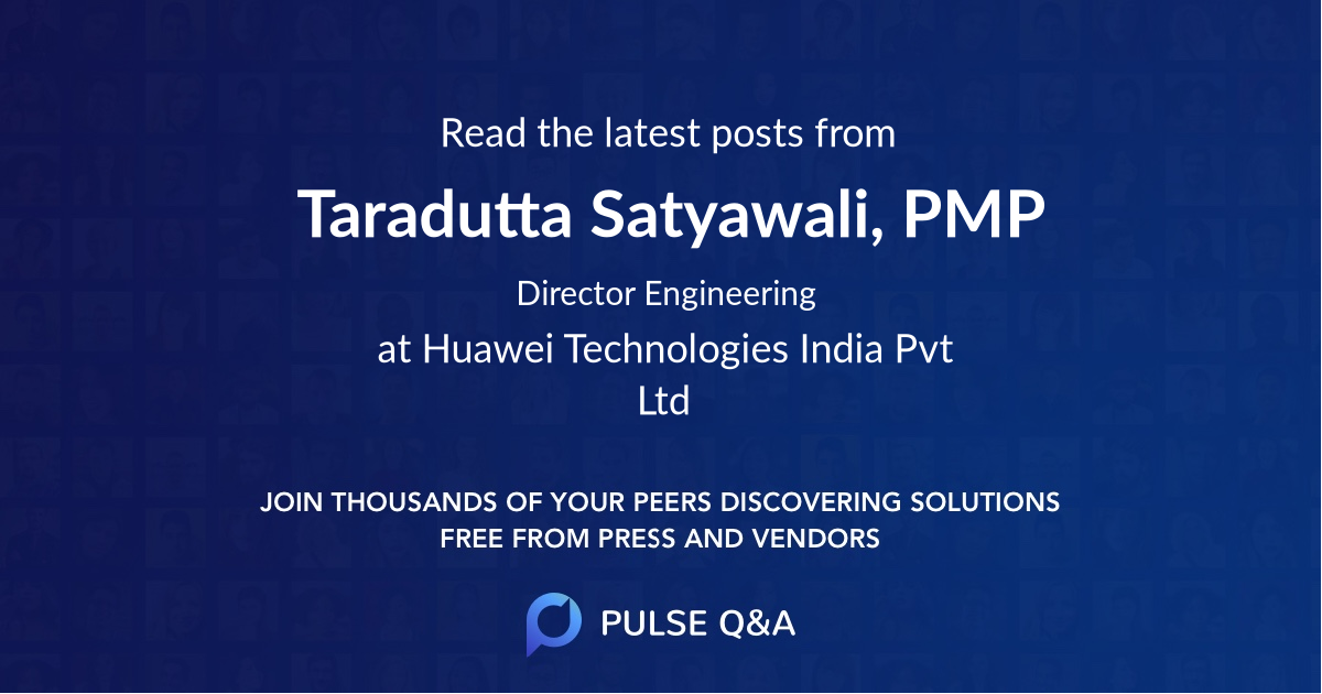 Taradutta Satyawali, PMP