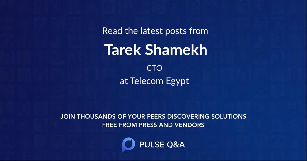 Tarek Shamekh