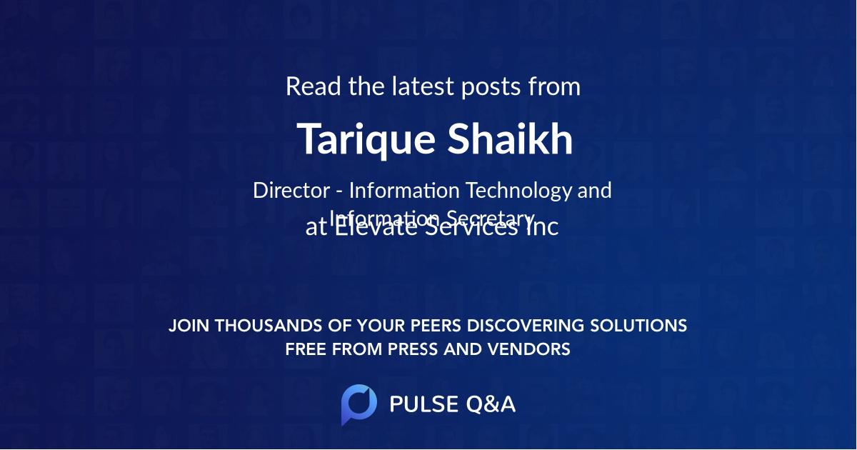 Tarique Shaikh