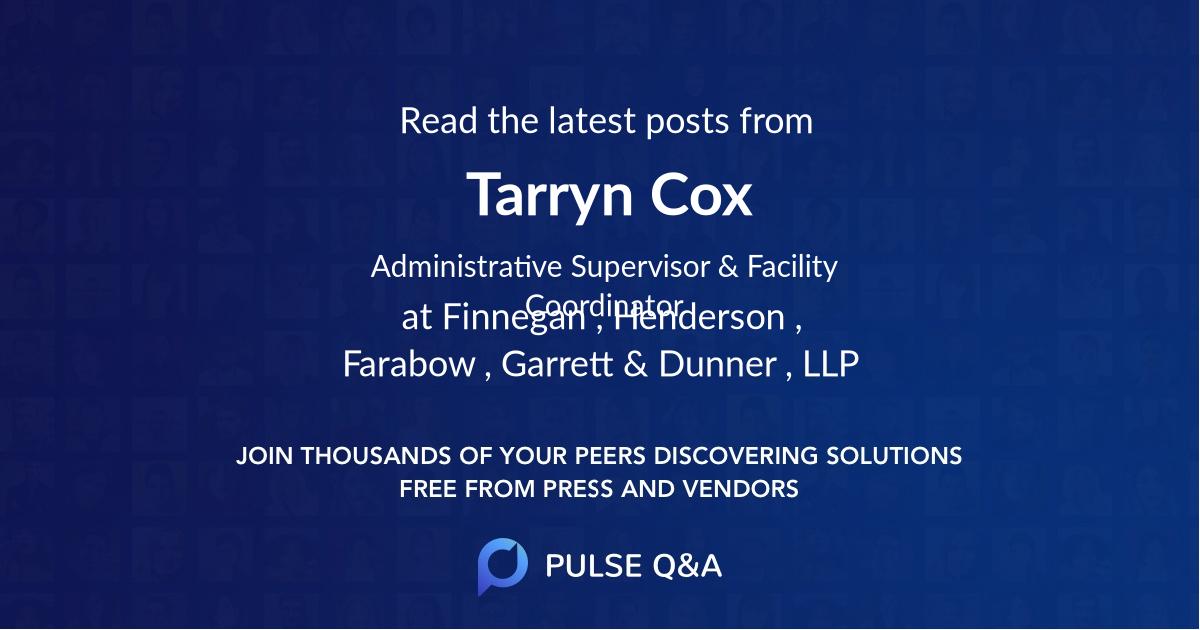 Tarryn Cox