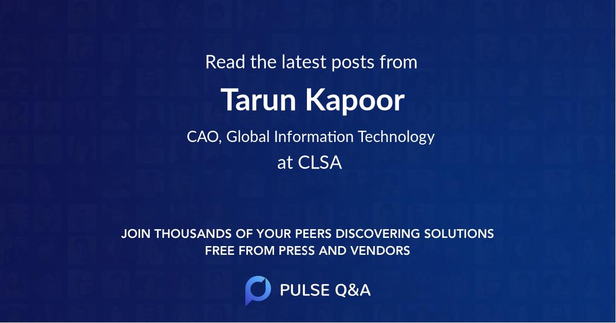 Tarun Kapoor