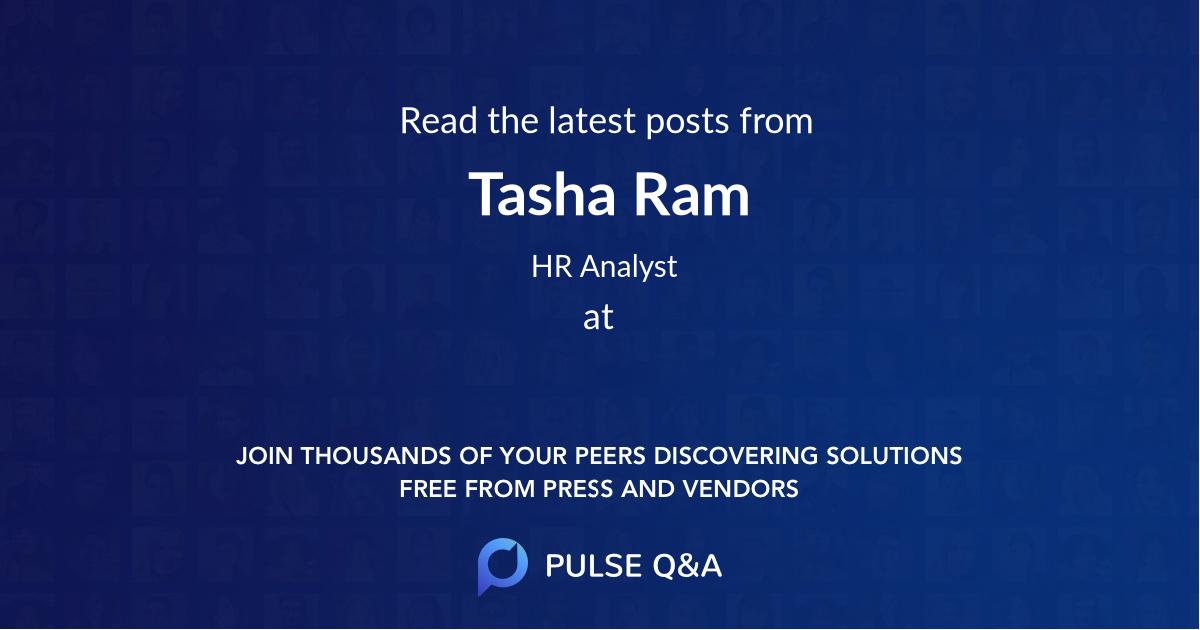 Tasha Ram