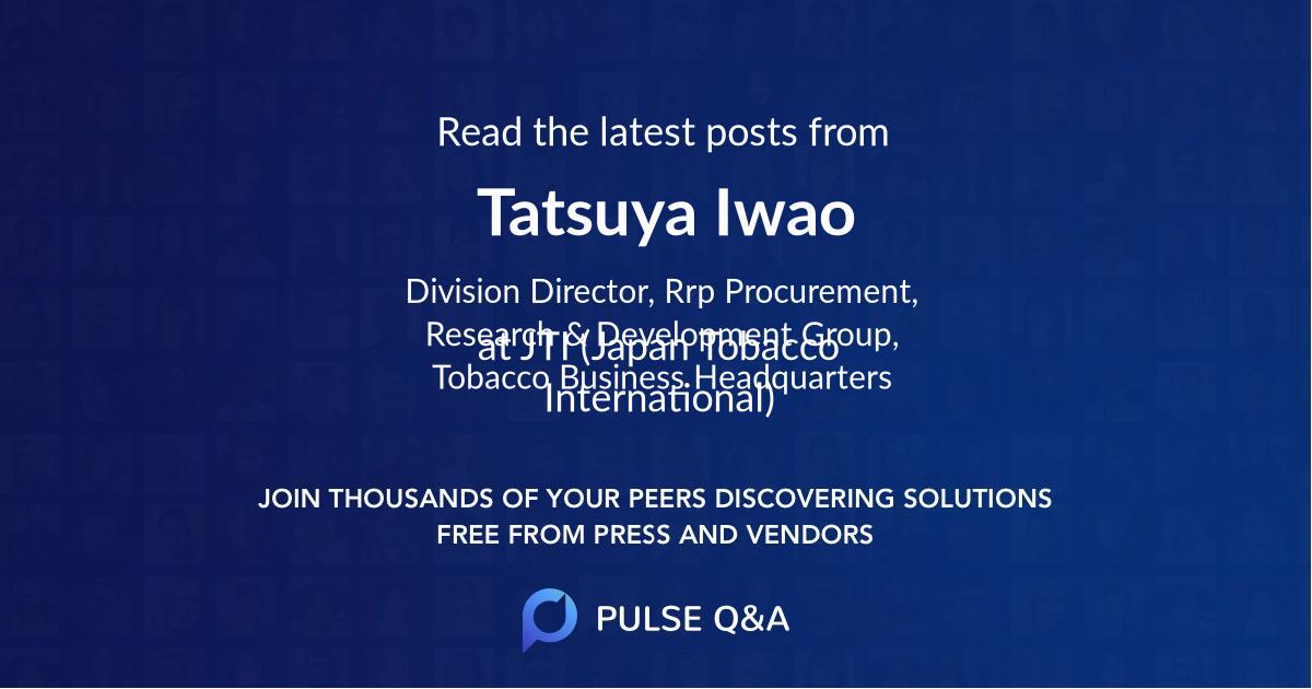 Tatsuya Iwao