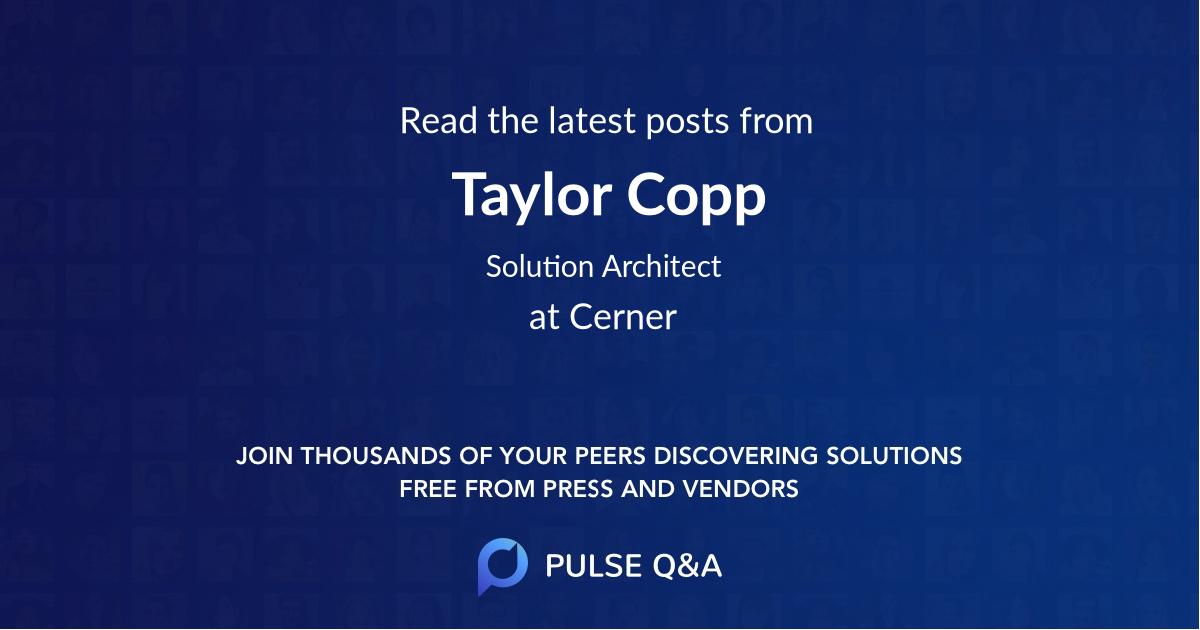 Taylor Copp