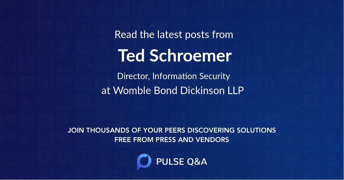Ted Schroemer