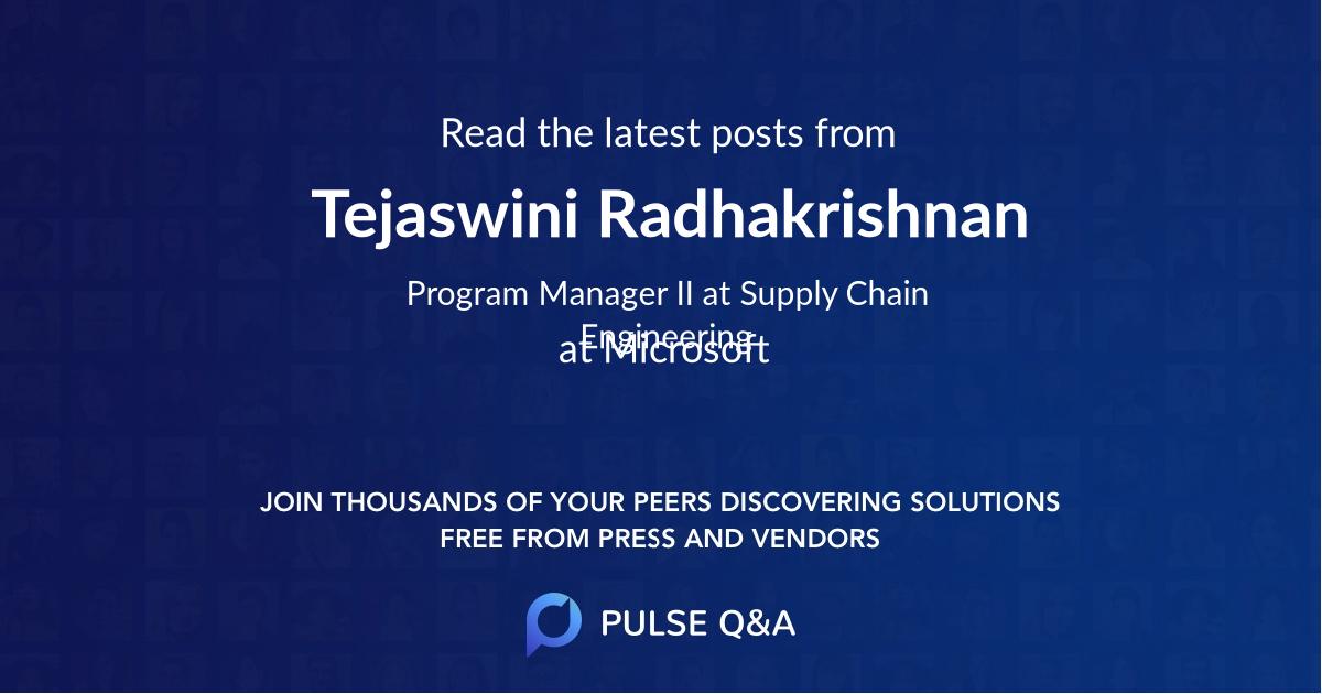 Tejaswini Radhakrishnan