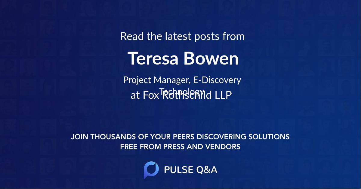 Teresa Bowen