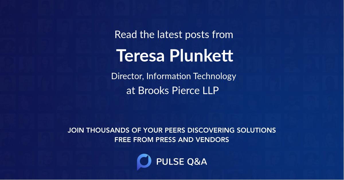 Teresa Plunkett