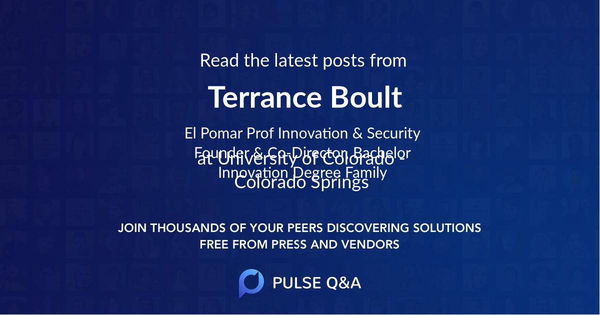 Terrance Boult