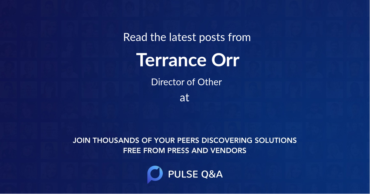 Terrance Orr