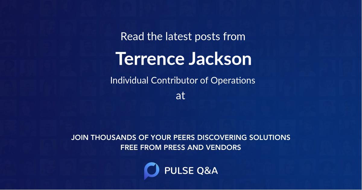 Terrence Jackson