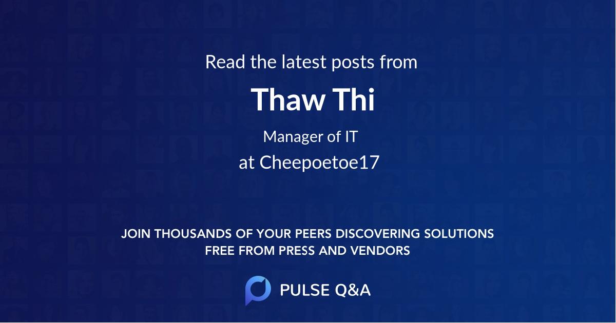 Thaw Thi