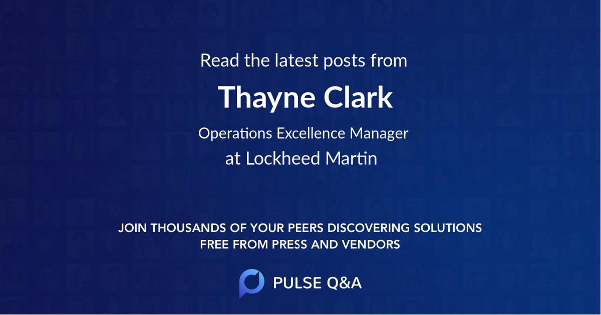 Thayne Clark