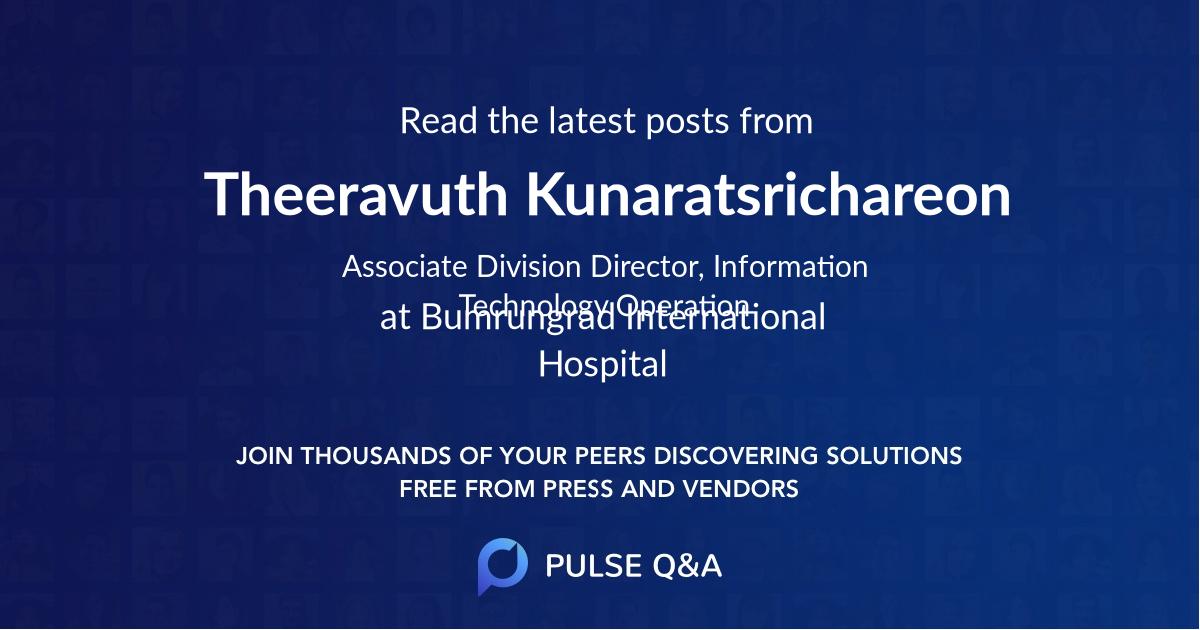 Theeravuth Kunaratsrichareon