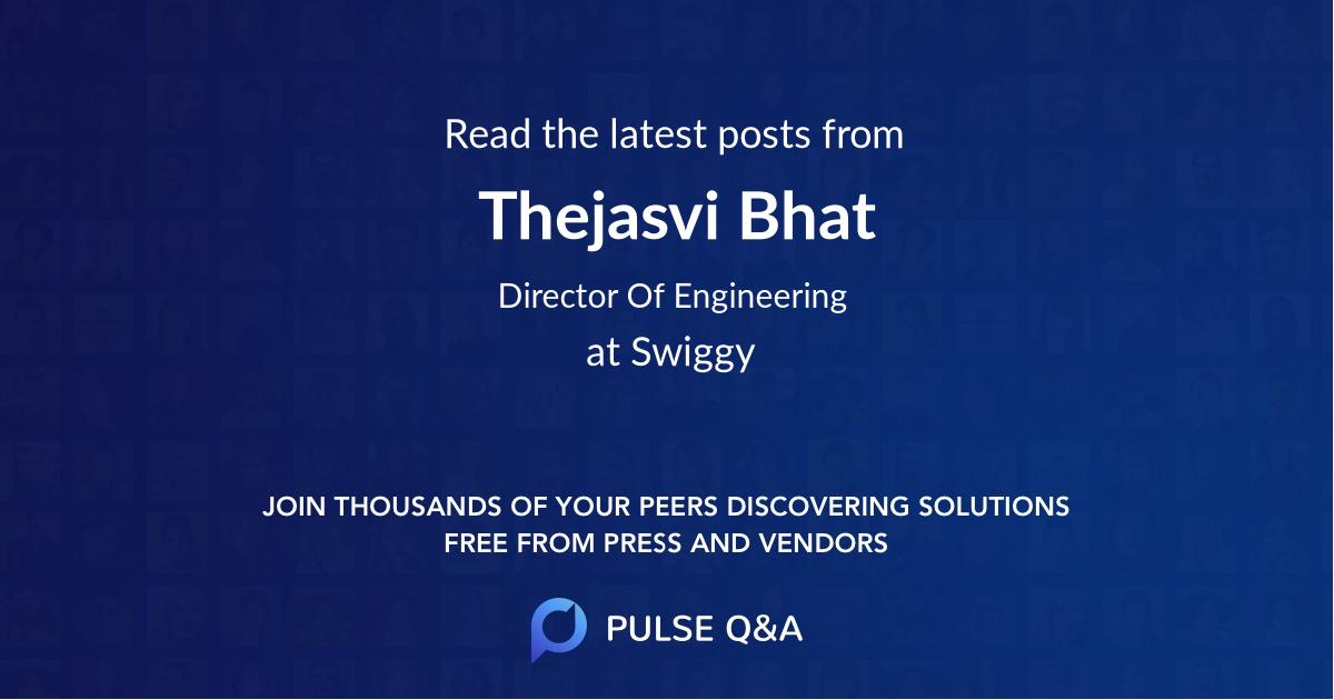 Thejasvi Bhat