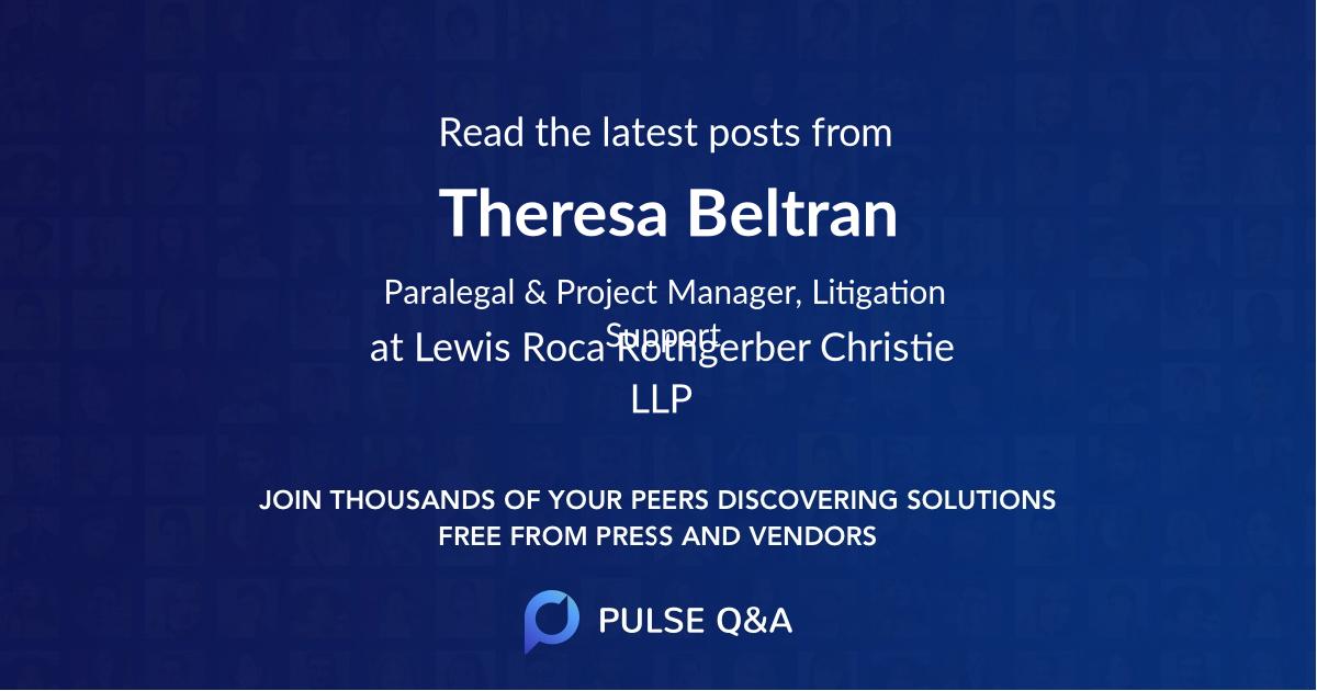 Theresa Beltran