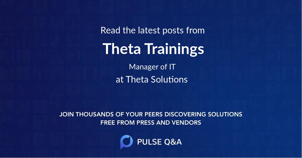Theta Trainings