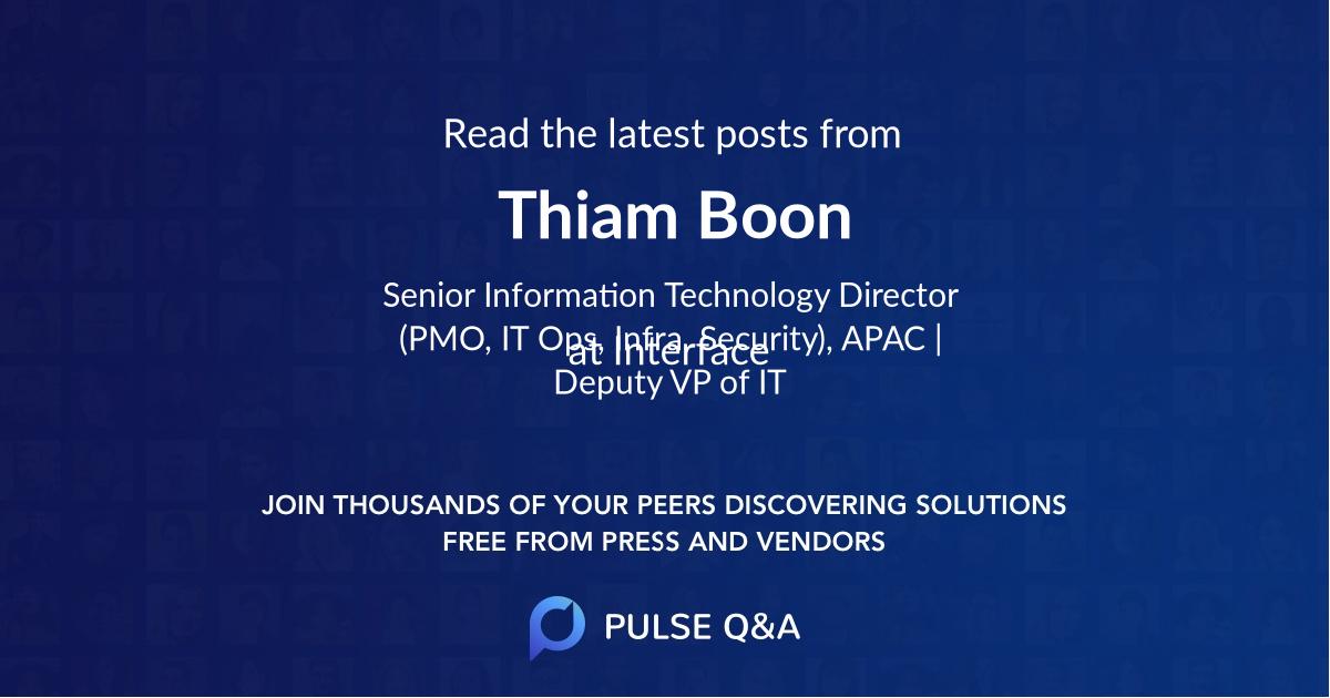 Thiam Boon