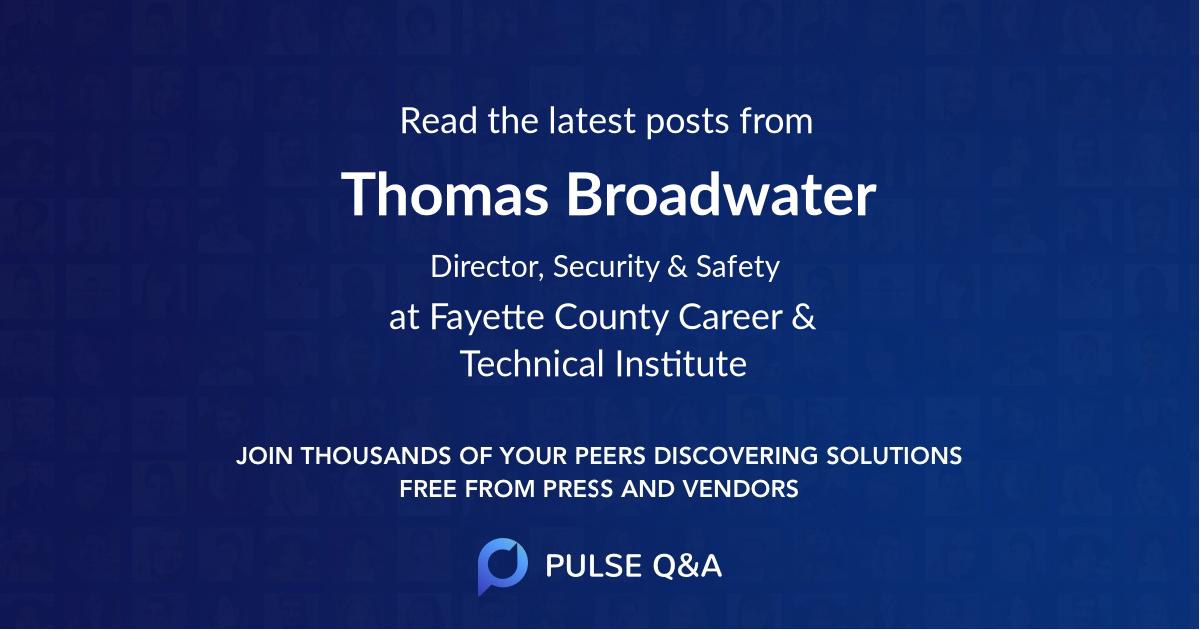 Thomas Broadwater
