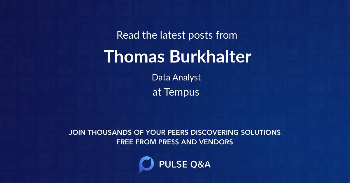 Thomas Burkhalter
