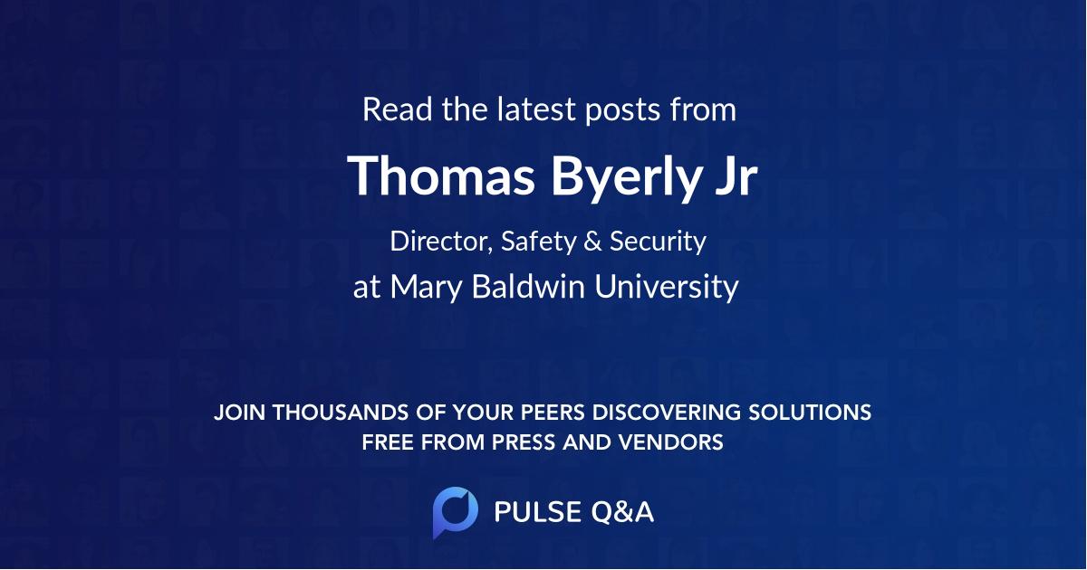 Thomas Byerly Jr