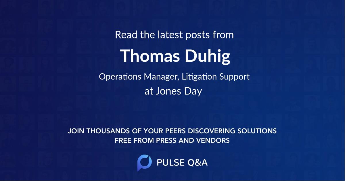 Thomas Duhig
