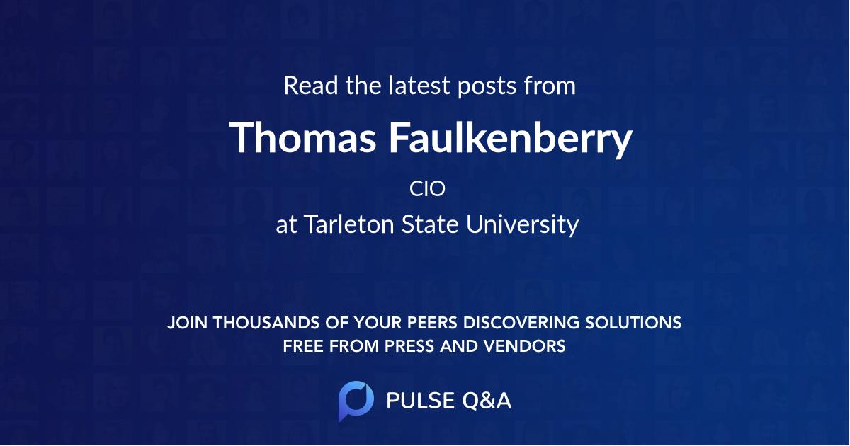 Thomas Faulkenberry