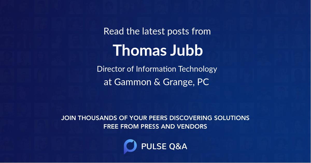 Thomas Jubb